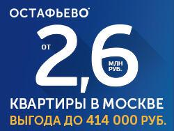 ЖК «Остафьево» Квартиры с отделкой в Москве, скидка до
